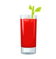 mary bloody alcohol glass cocktail color vector image