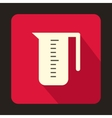 Measuring cup icon in flat style vector image vector image