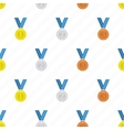 Medal seamless background vector image vector image