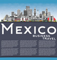 mexico city skyline with gray buildings blue sky vector image vector image