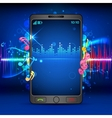 Music on Mobile Phone vector image vector image