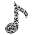 musical note collage of triangles vector image