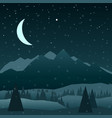 night in mountains vector image vector image