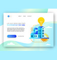 online business landing page template for app idea vector image vector image