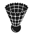 plastic shuttlecock icon simple style vector image vector image