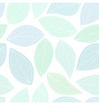 seamless background with pastel green leaves vector image