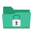 secure data folder flat icon security padlock vector image vector image