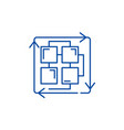 sequence of processes line icon concept sequence vector image vector image