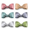 set isolated silk bows with polka dot vector image vector image