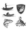 set on a fishing theme vector image