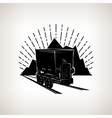 Silhouette coal mine trolley vector image vector image