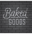 slogan brickwall dark baked goods vector image vector image