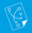 soccer strategy icon white vector image vector image