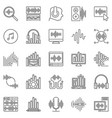sound design outline icons set music and audio vector image