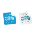special offer sticker business sale blue tag vector image vector image