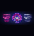 sports betting is a neon sign design template vector image vector image