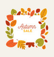 square autumn banner template decorated fallen vector image vector image