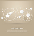 star icon on a brown background with elegant vector image vector image