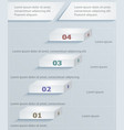 strategic paper template infographics vector image vector image