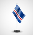 Table flag of Cape Verde vector image vector image