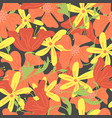 trendy floral seamless pattern vector image vector image