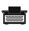 vintage typewriter icon simple style vector image
