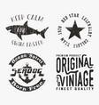 vntage stamp set vector image vector image