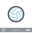 volleyball outline icon summer vacation vector image