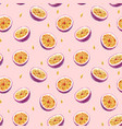 watercolor passion fruit pattern vector image vector image