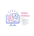 webinar concept online course distant education vector image
