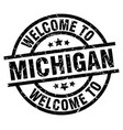 welcome to michigan black stamp vector image vector image