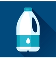 with gallon of milk in flat design vector image vector image