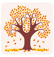 tree in autumn vector image