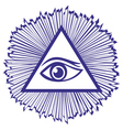 Eye Of Providence or All Seeing Eye Of God - famou vector image