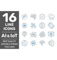ai iiot iot cloud computing cognitive vector image vector image