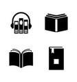 audio books simple related icons vector image