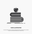 back to school school student books apple icon vector image vector image