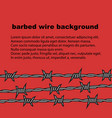 barbed wire red background with place for text vector image