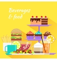 Beverages and Food Design Flat vector image