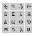 black web icons set vector image vector image