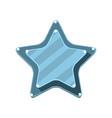 blue cartoon star vector image vector image