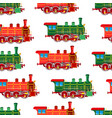 bright cartoon steam locomotive seamless vector image vector image