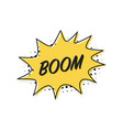 bubble boom banner in flat style line design vector image vector image