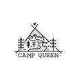 camping adventure badge design outdoor crest logo vector image vector image