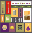 candle fire wax candles vector image vector image