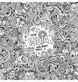 cartoon hand-drawn doodles india vector image vector image