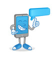 chat smartphone vector image