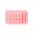 check with stars and numbers pink ticket vector image vector image