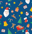 Christmas seamless pattern in flat style vector image vector image
