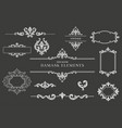 collection of damask design elements vector image vector image